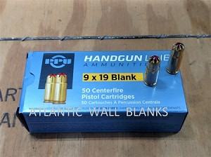 9X19  BLANK  - PPU 50 ROUNDS 1/2 LOAD (STANDARD)